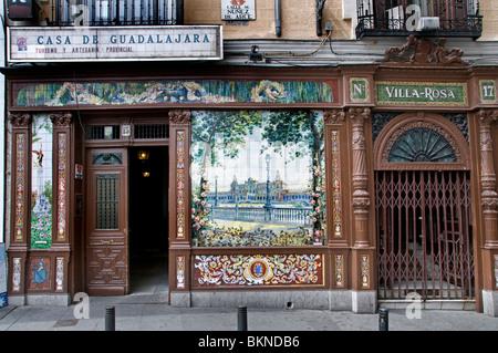 Vila Rosa Plaza de Santa Ana Old Madrid Spain Hotel - Stock Photo