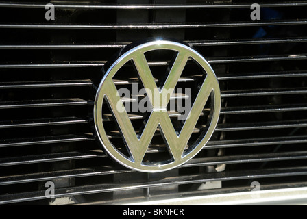 VW Volkswagen Grill Badge - Stock Photo