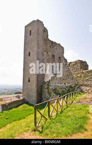 Fortress of the Popes, Rocca dei Papi, Montefiascone, Viterbo province, Lazio - Stock Photo