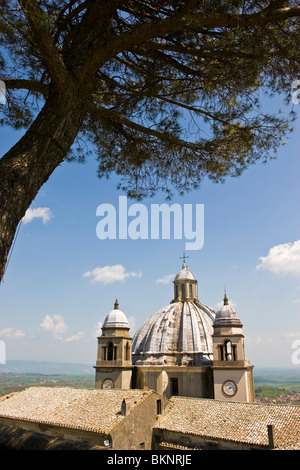 Santa Margherita cathedral, Montefiascone, Viterbo province, Lazio - Stock Photo