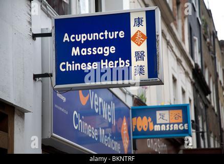 Chinese medicine shop, Chinatown, Soho, London, England - Stock Photo