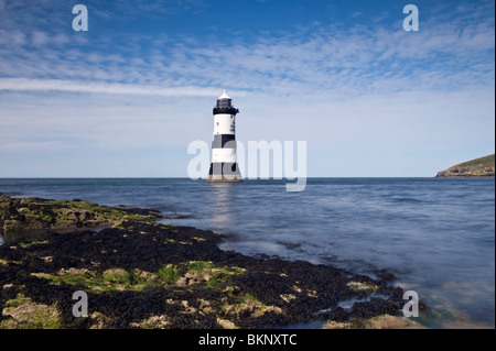 Penmon Point Lighthouse, Anglesey - Stock Photo