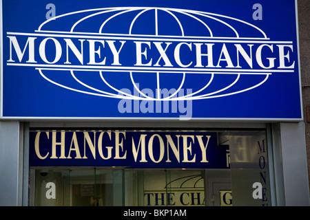 London england uk currency exchange shop with cash machine on stock photo royalty free image - Bureau de change crawley ...