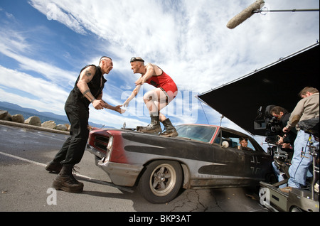 ON SET (ALT) FILMING (ALT) O/S 'SMOKIN' ACES' KEVIN DURAND, MAURY STERLING, CHRIS PINE ACES 001-28 - Stock Photo