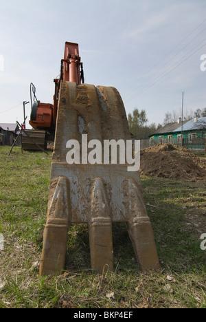 Excavator hoe - Stock Photo