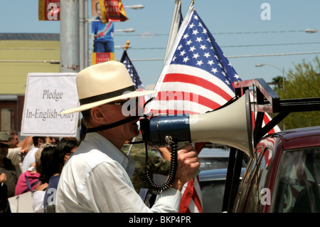 La Gran Marcha on May 1, 2010, in Tucson, Arizona, USA, protesting the bill SB1070 that targets illegal immigration. - Stock Photo