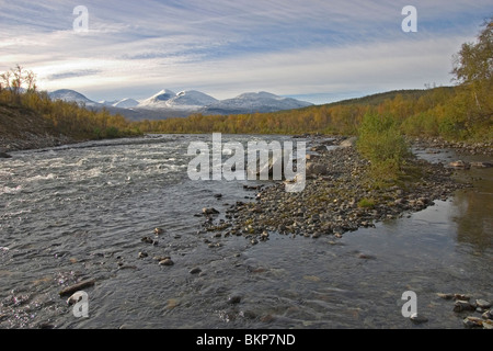 Photo of the Abisko rivier in northern Lapland - Stock Photo