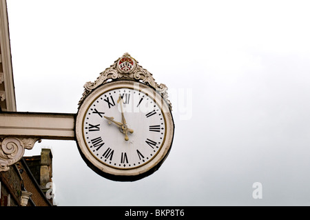 The Corn Exchange Clock in Rochester, Kent. - Stock Photo