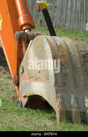 Excavator scoop - Stock Photo