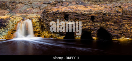 Old mill in Rio Tinto, now in disuse - Stock Photo