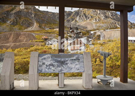View of the Independence Mine in Hatcher Pass Matanuska Valley Southcentral, Alaska Fall - Stock Photo