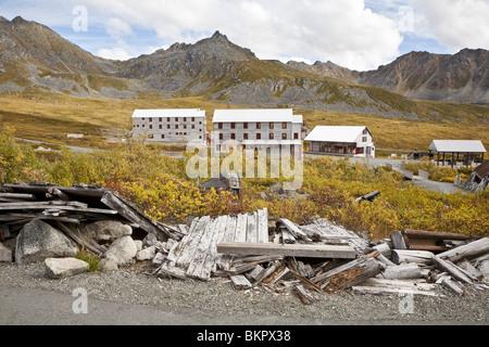 at Independence Mine. Hatcher Pass area, Matanuska Valley, Fall / Autumn Southcentra, Alaska MR - Stock Photo