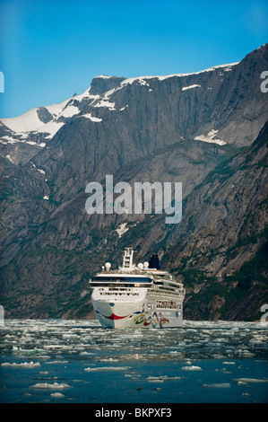 Norwegian Cruise Line's *Star* near Dawes Glacier in Endicott Arm, Tracy Arm- Fords Terror Wilderness, Southeast - Stock Photo
