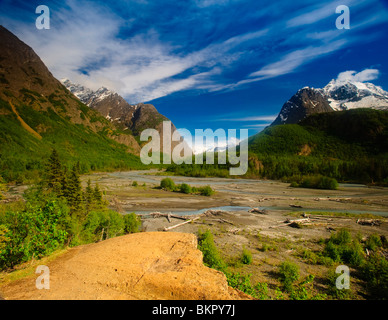 Scenic view of Eagle River in Chugach State Park, Southcentral Alaska, Summer - Stock Photo