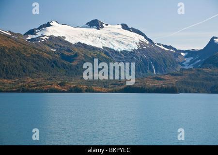 Cap glacier Chugach Mountiains in Prince William Sound, Chugach National Forest. Southcentral, Alaska - Stock Photo