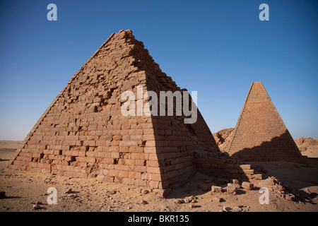 Sudan, Karima. The pyramids at Karima. - Stock Photo