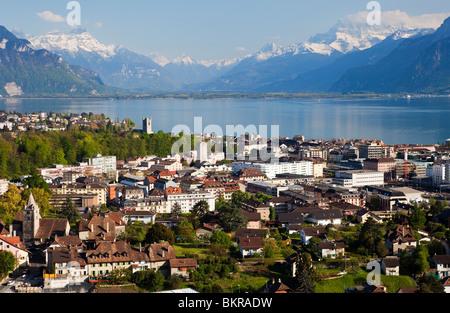 The City of Vevey, Switzerland - Stock Photo