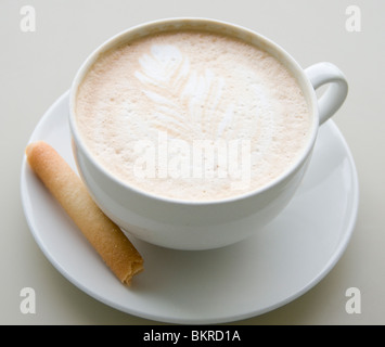 Coffee and biscuit - Stock Photo