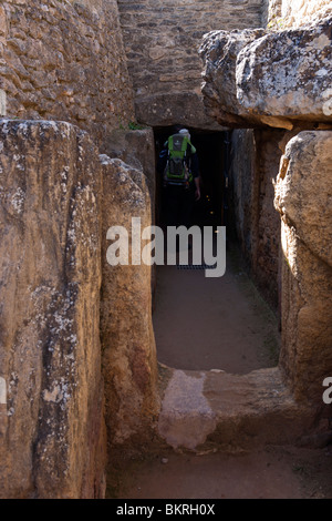 Megalithic Dolmens of Menga in Antequera. Málaga province. Andalusia. Spain. Europe - Stock Photo