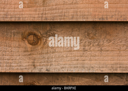 close up of a wooden fence panel - Stock Photo