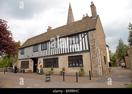 Oliver Cromwell's 13th century house now the Tourist Information Centre Ely Cambridgeshire UK - Stock Photo