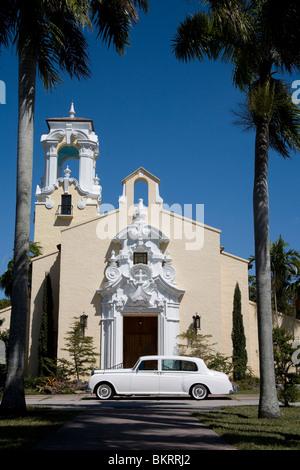 Coral Gables Congregational Church, Coral Gables Miami Florida - Stock Photo