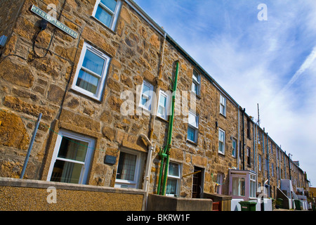 Fishermans Cottages and Holiday homes in St Ives Cornwall - Stock Photo