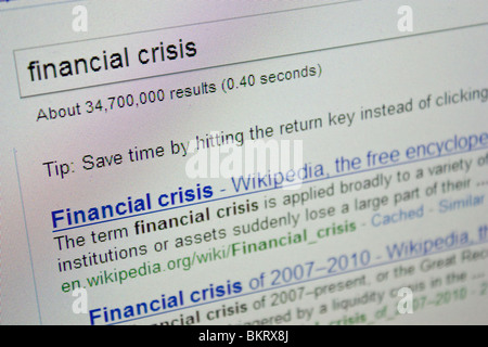 financial crisis definition market economy global - Stock Photo