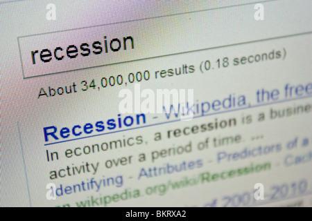 recession economy economics - Stock Photo