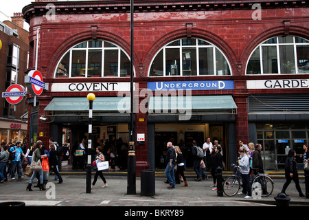Covent Garden Underground station in the West End of London. - Stock Photo