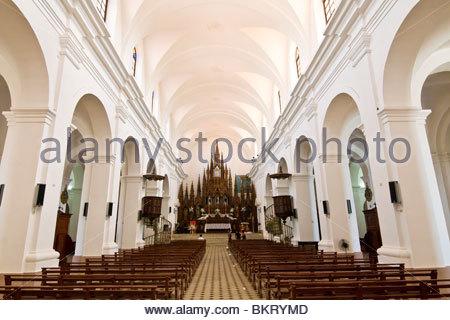 cuba,trinidad,iglesia parroquial de la santisima trinidad - Stock Photo