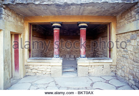 Palace of Knossos,Crete,Greece,Europe - Stock Photo