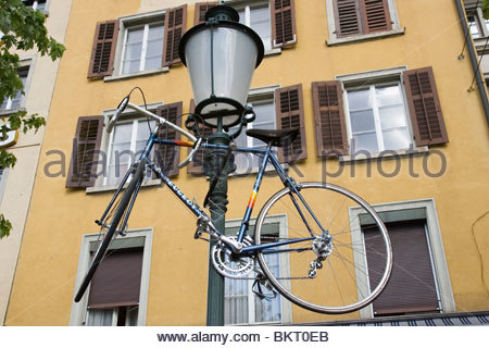 bicycle,old town,zurich,switzerland - Stock Photo