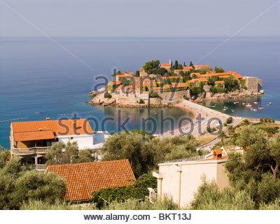 sveti stefan,montenegro,europe - Stock Photo