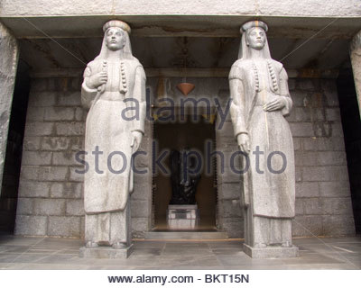 mausoleum of Njegos,Lovcen National Park,Montenegro,Europe - Stock Photo