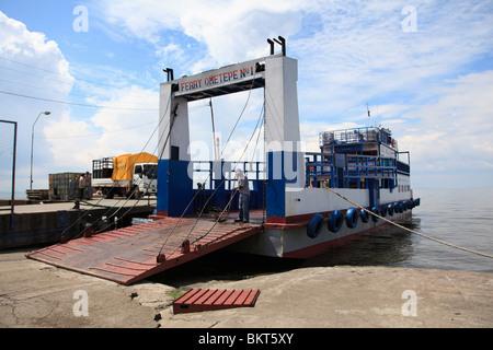 Ferry, Isla de Ometepe, Ometepe Island, Lake Nicaragua, Nicaragua, Central America  - Stock Photo