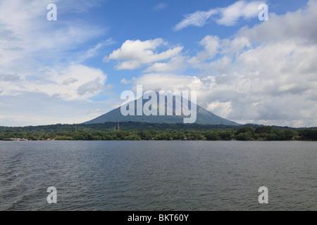 Volcano Concepcion, Isla de Ometepe, Ometepe Island, Lake Nicaragua, Nicaragua, Central America - Stock Photo