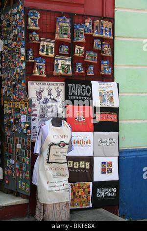 A souvenir stall in La Boca, Buenos Aires, Argentina - Stock Photo