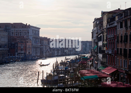 Buildings along the Grand Canal in Venice, Italy - Stock Photo