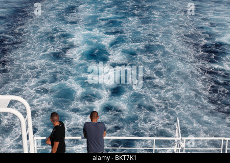 Sea view from ferry - Stock Photo