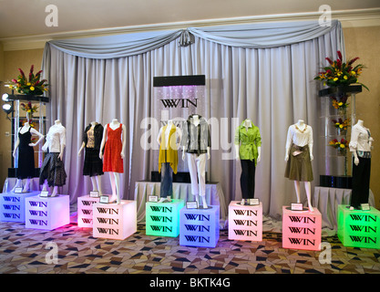 Manaquins display clothing at the WOMENS WEAR IN NEVADA or WINN show - LAS VEGAS, NEVADA - Stock Photo