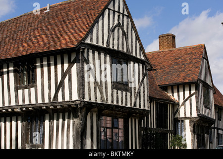 The Old Wool Hall on the corner of Lady Street and Water Street, Lavenham - now part of the Swan Inn - Stock Photo