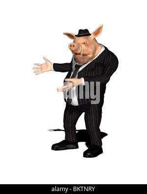 nonserious grubby salesman - Stock Photo