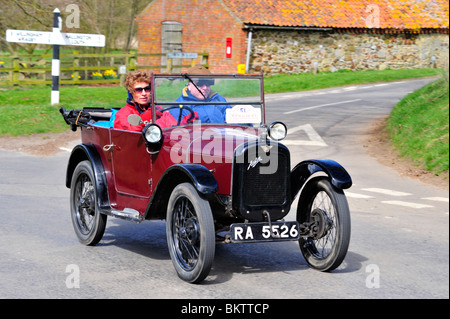 ON THE OPEN ROAD. 1928 Austin Seven Chummy. Vintage Cars - Stock Photo