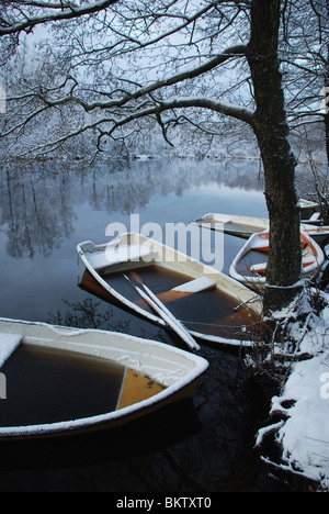 Boats in winter time - Stock Photo