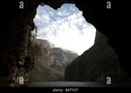 The Sumidero Canyon in Tuxla Gutierrez, Chiapas, Mexico, February 18, 2010. - Stock Photo