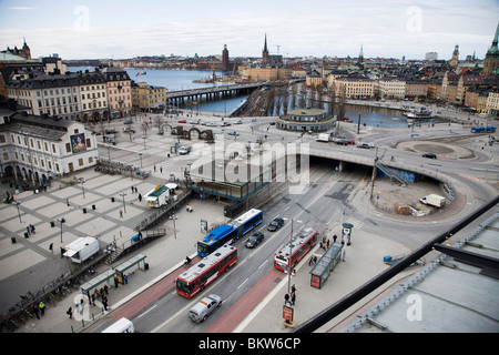 View over road network - Stock Photo
