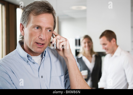 Man talking in phone - Stock Photo