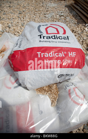 Bales of Tradical Hemp shiv for environmentally friendly building construction UK - Stock Photo