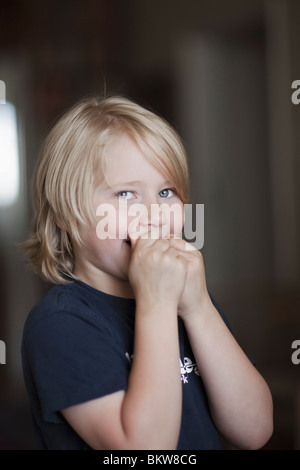Boy with secrets - Stock Photo